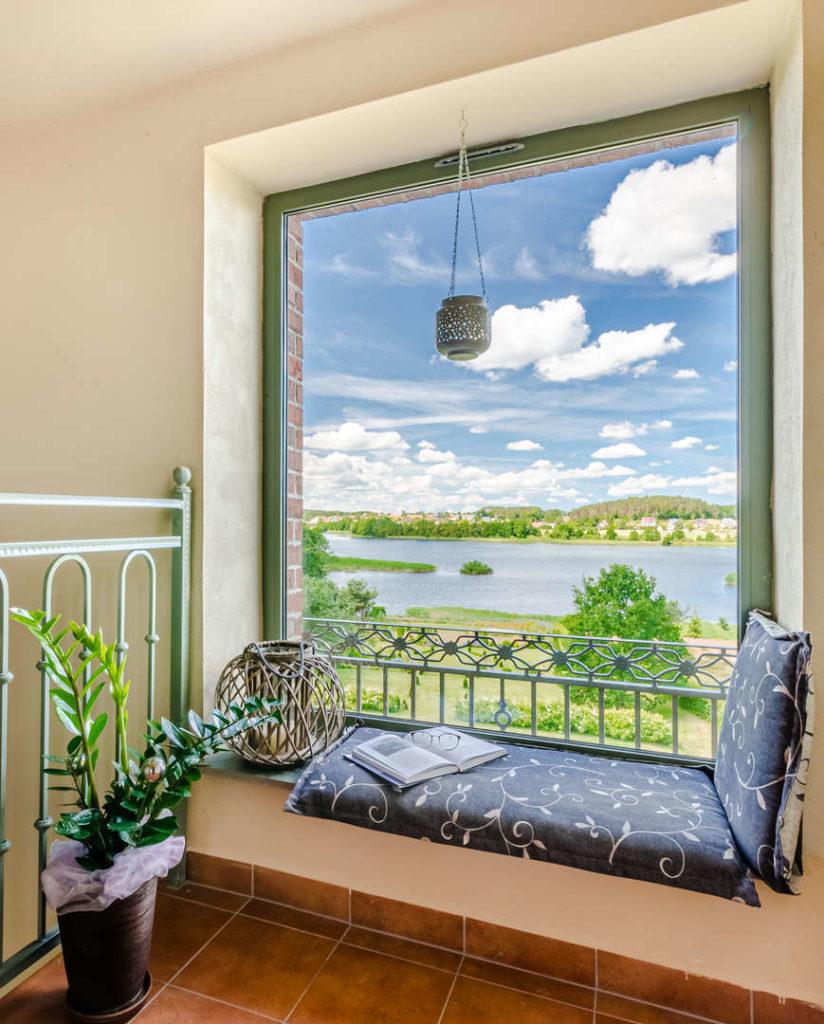 widok z okna domu wczasowego stenka kaszuby